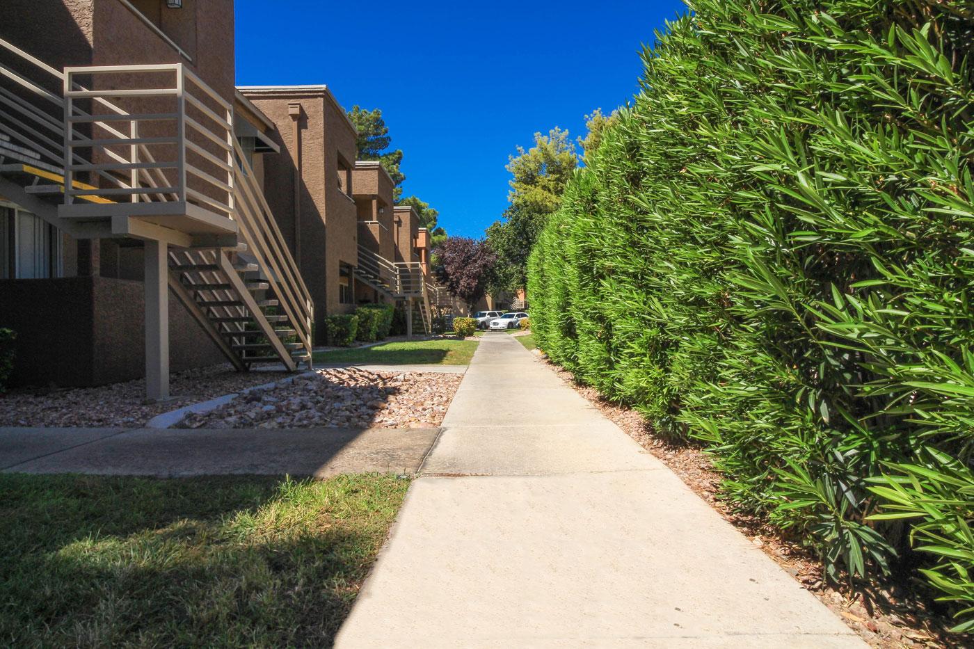 Silver Stream Apartments Outdoor Walkway.