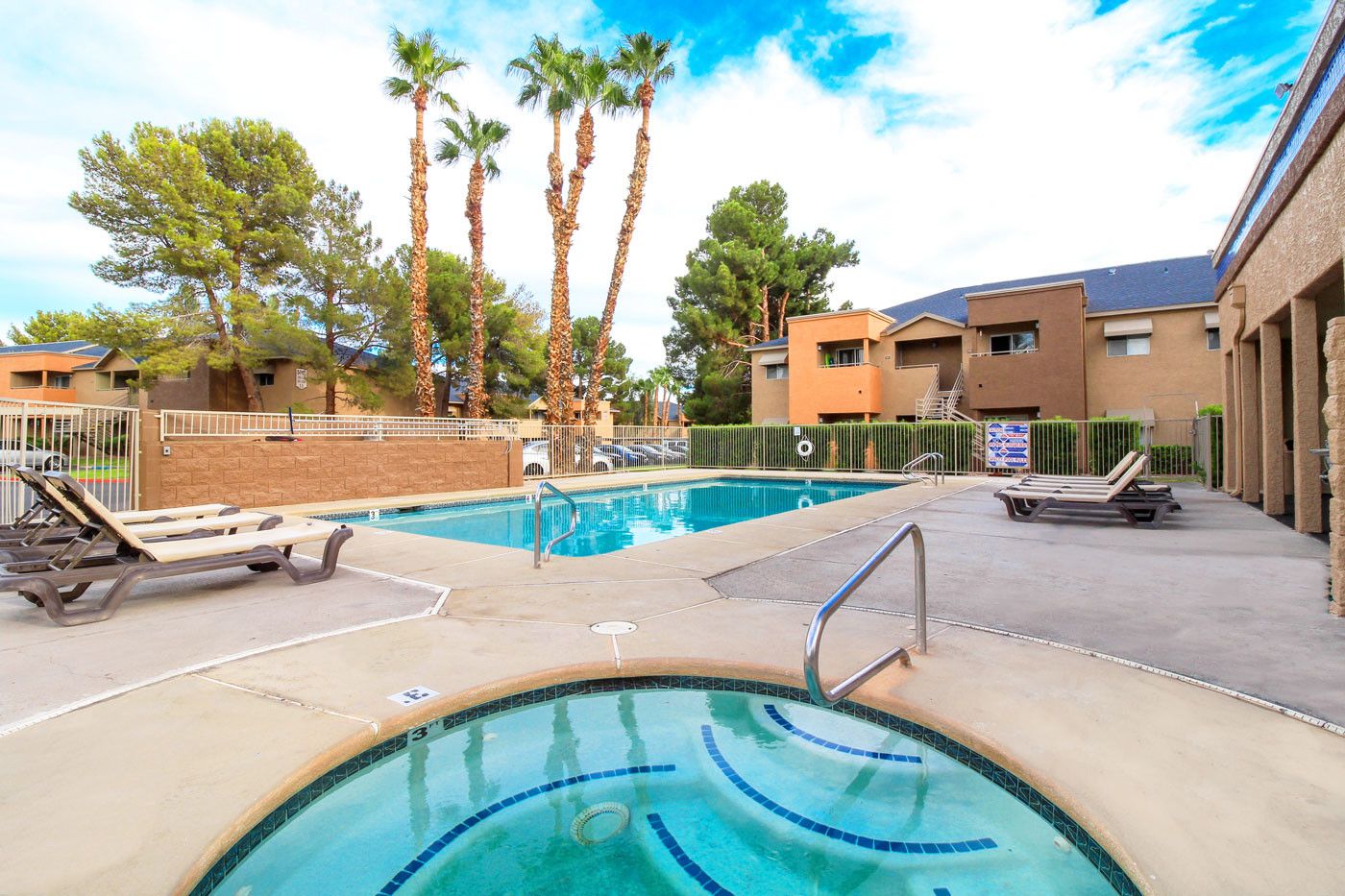 Outdoor pool at Silver Stream Apartments.