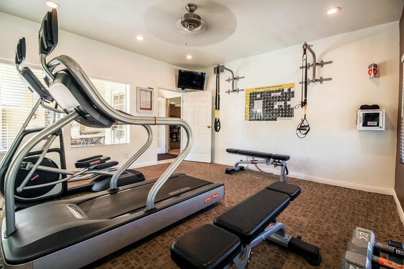 Silver Stream Apartments Gym.